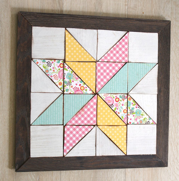 Wooden quilt square wall art 1 1010x1024