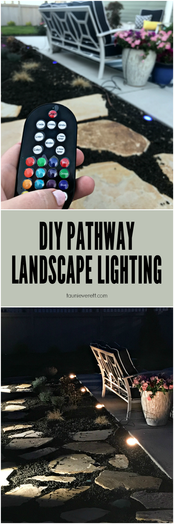 Easy, inexpensive DIY pathway landscape lighting