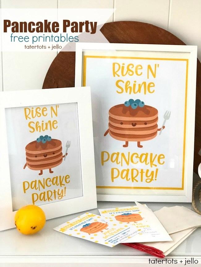 Pancake party printables