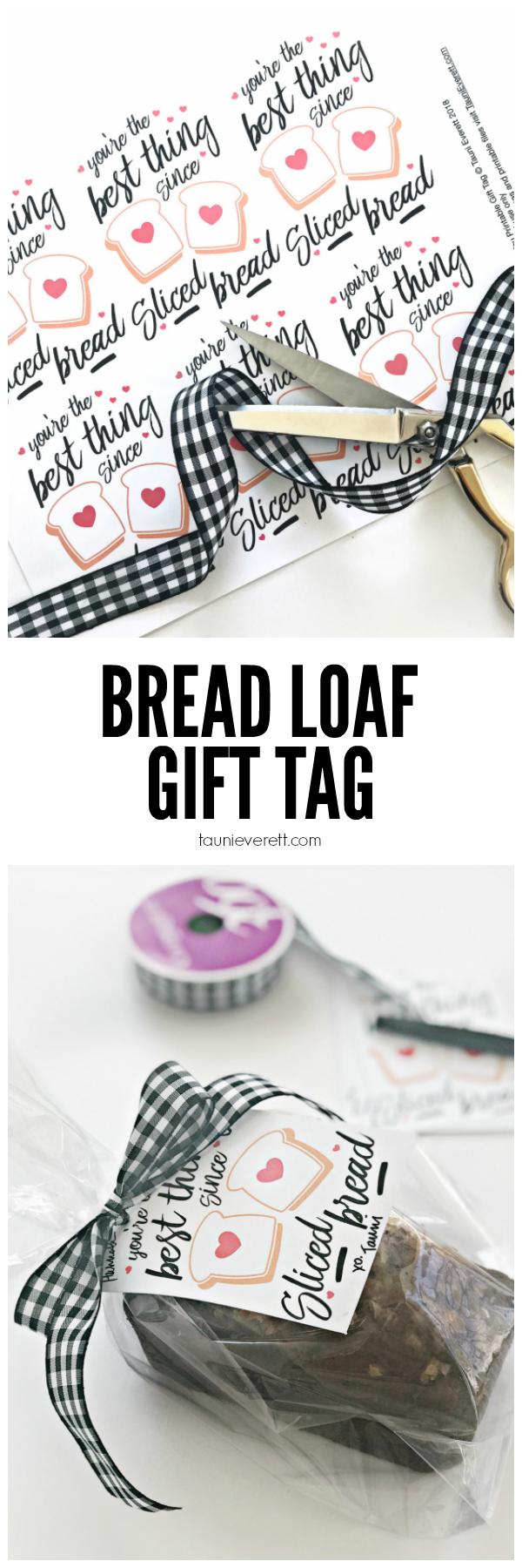 Bread Loaf Printable Gift Tag. Perfect for gifting loaves of bread to friends and neighbors! #printable #gifttag #bread