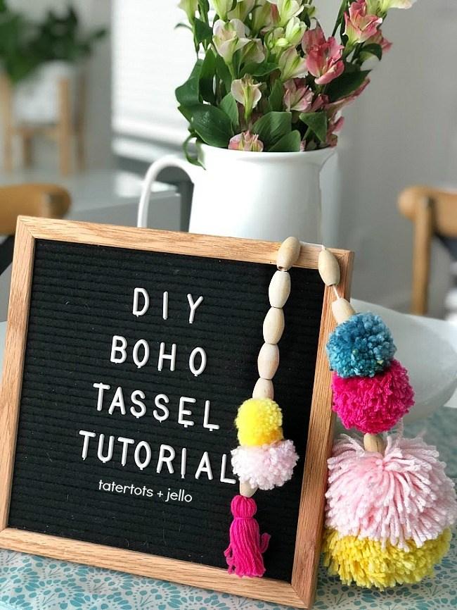 Diy boho tassel tutorial
