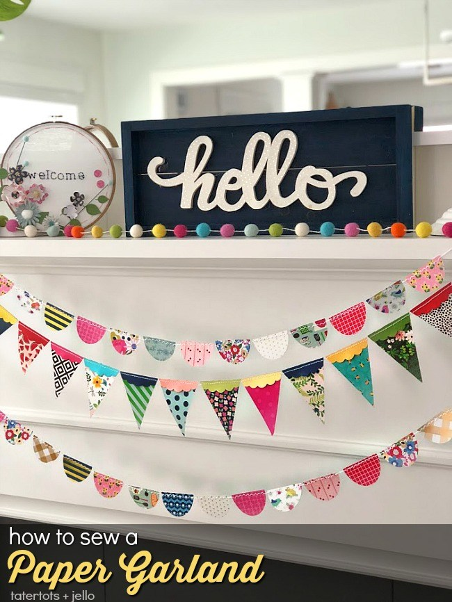 How to sew a paper banner
