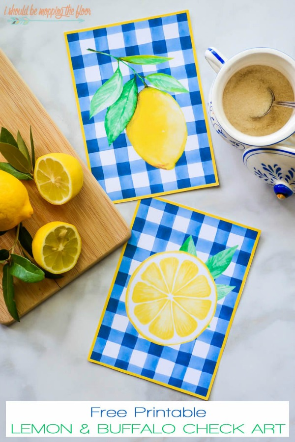 Lemon kitchen art