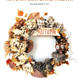 DIY Foxy Autumn Grapevine Wreath