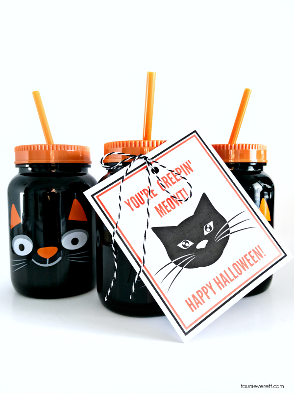 Black cat printable halloween gift tag © tauni everett 2018 1600