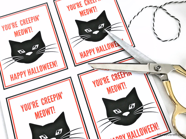 Black cat printable halloween gift tag © tauni everett 2018 22600