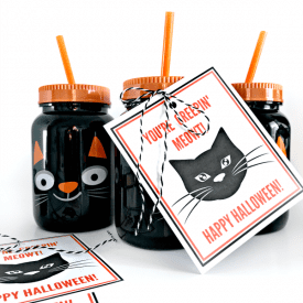 Black Cat Halloween Printable Gift Tag