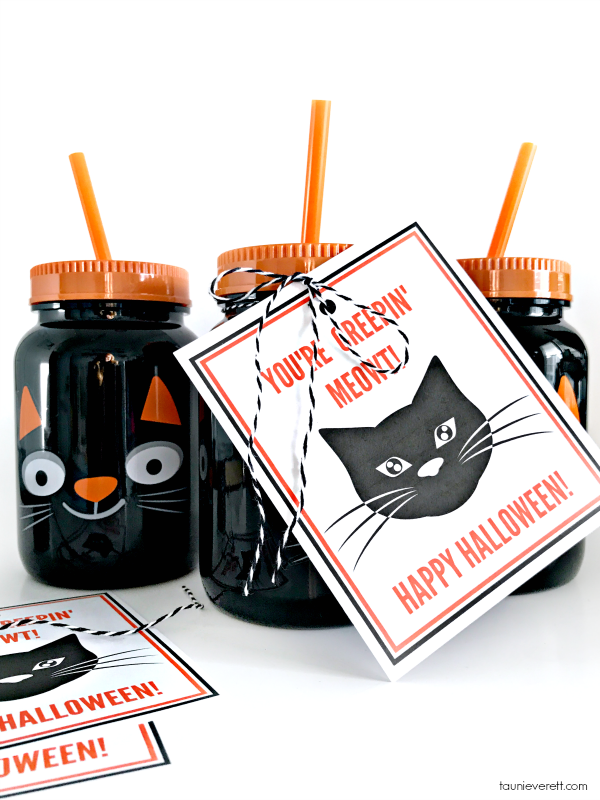 Black cat printable halloween gift tag © tauni everett 2018 5600