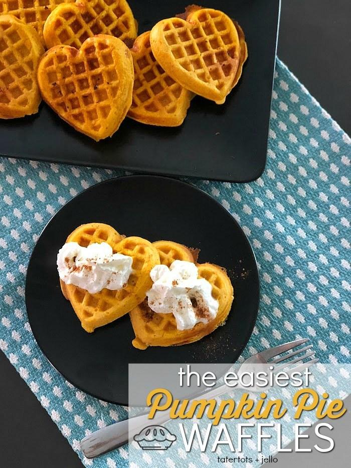 Pumpkin spice waffles first