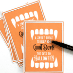 Count Down to Halloween Printable
