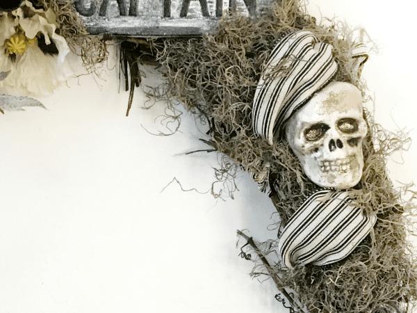 DIY Pirate Halloween Grapevine Wreath