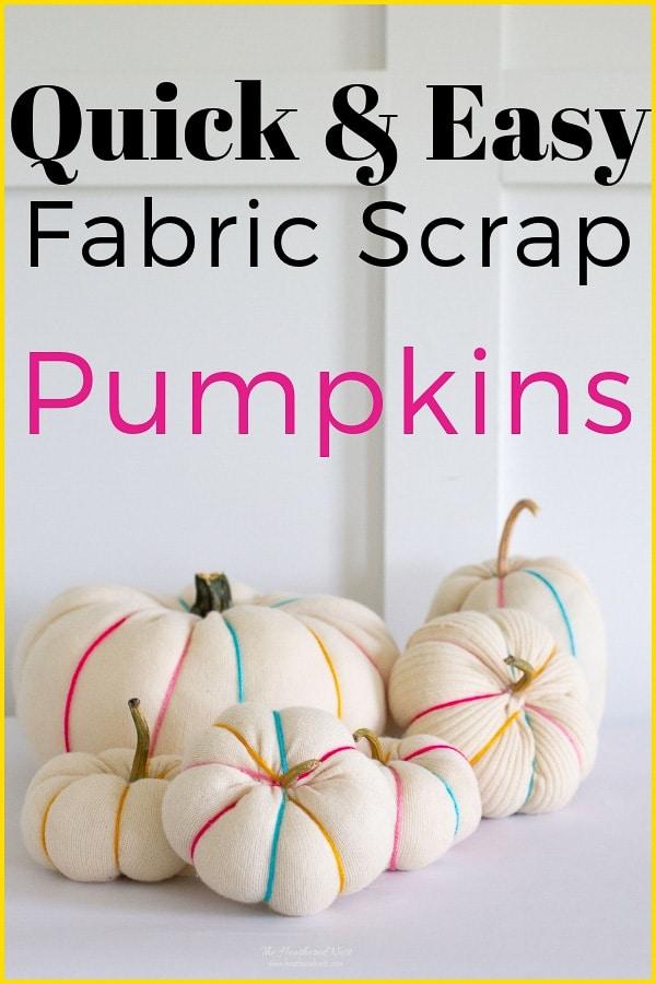 Easy diy scrap fabric pumpkins 14