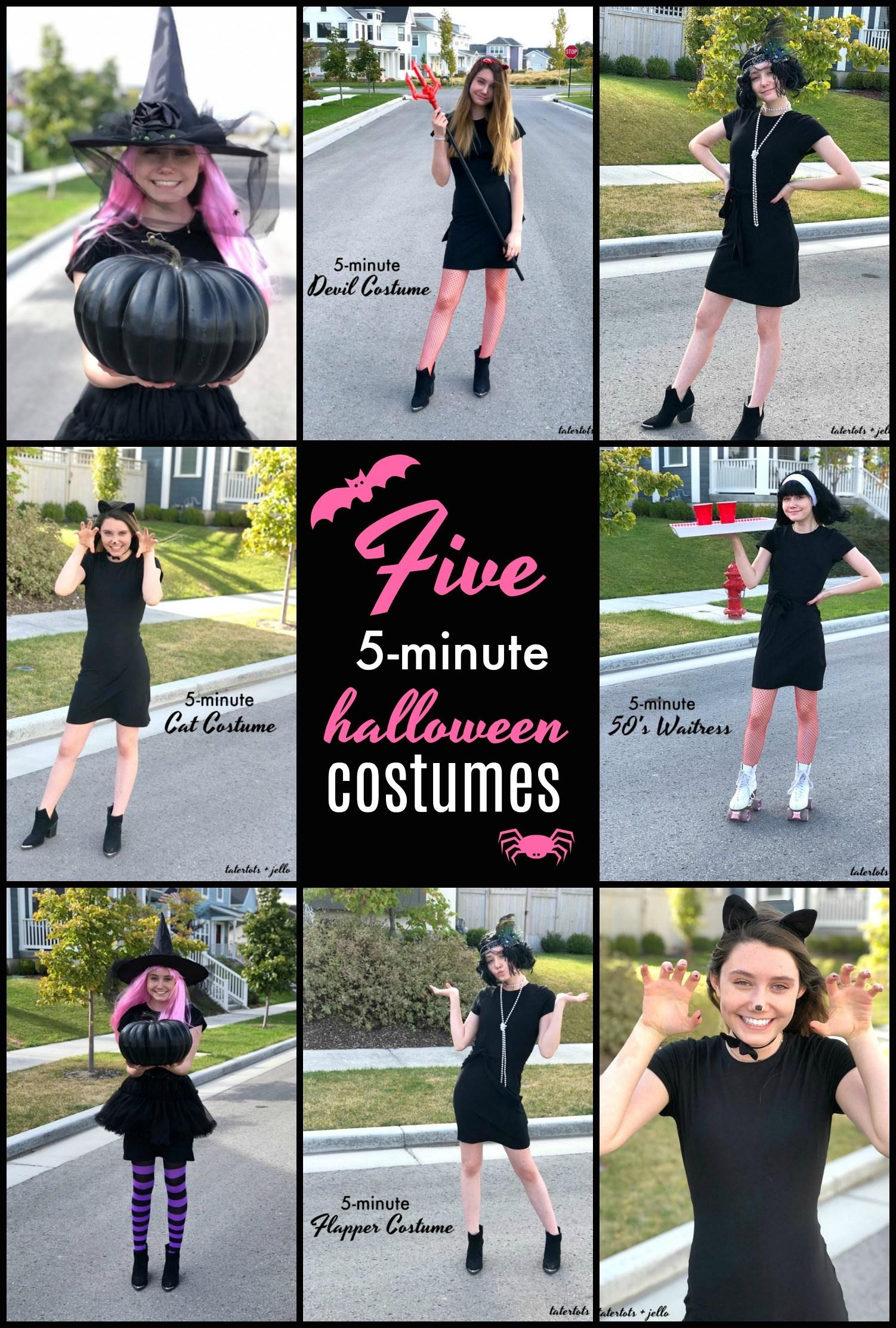Five 5 minute halloween costume ideas for teens