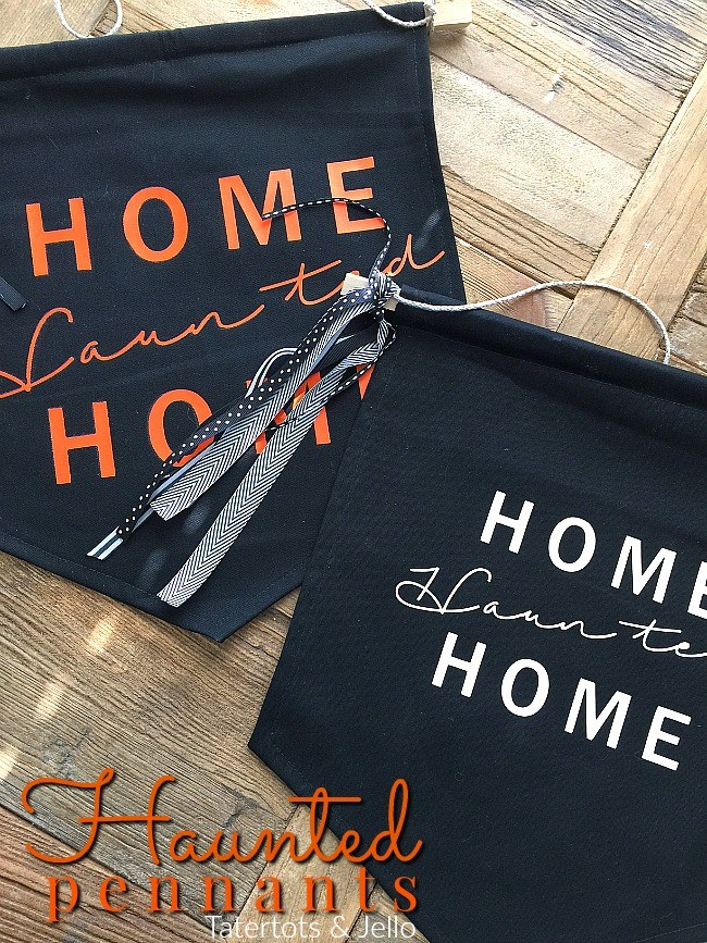 Haunted pennant door hangings from tatertots and jello