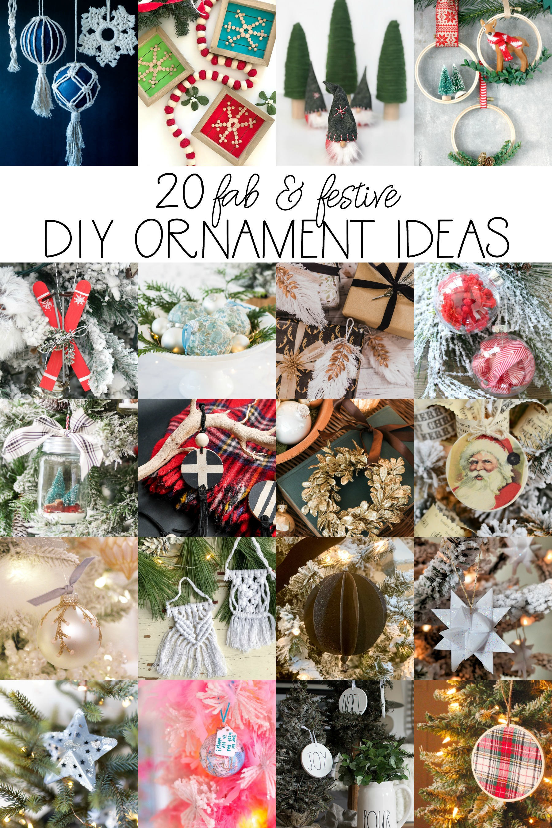 20 fab and festive diy ornament ideas