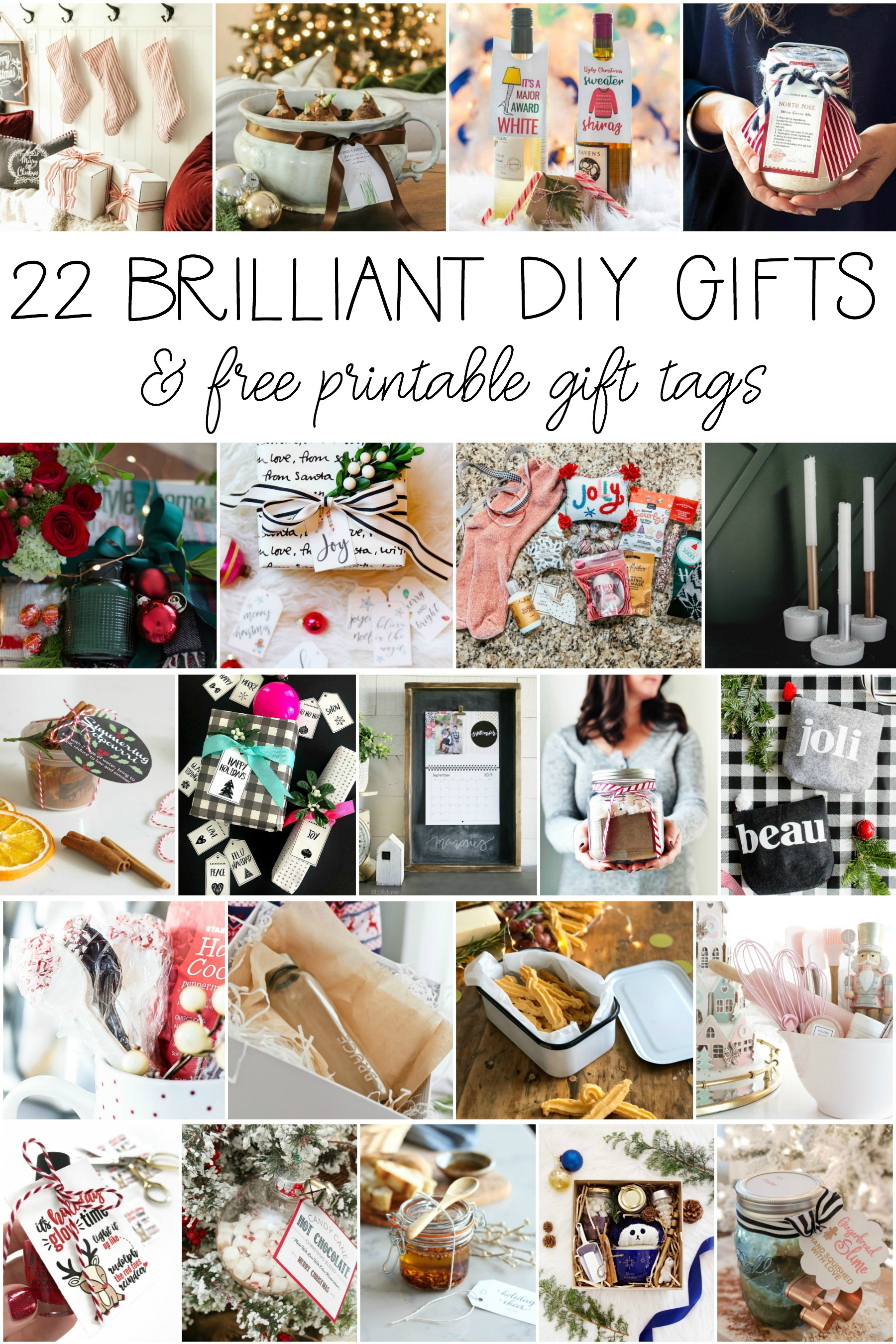 22 brilliant diy gift ideas for the holidays many with free printable gift tags