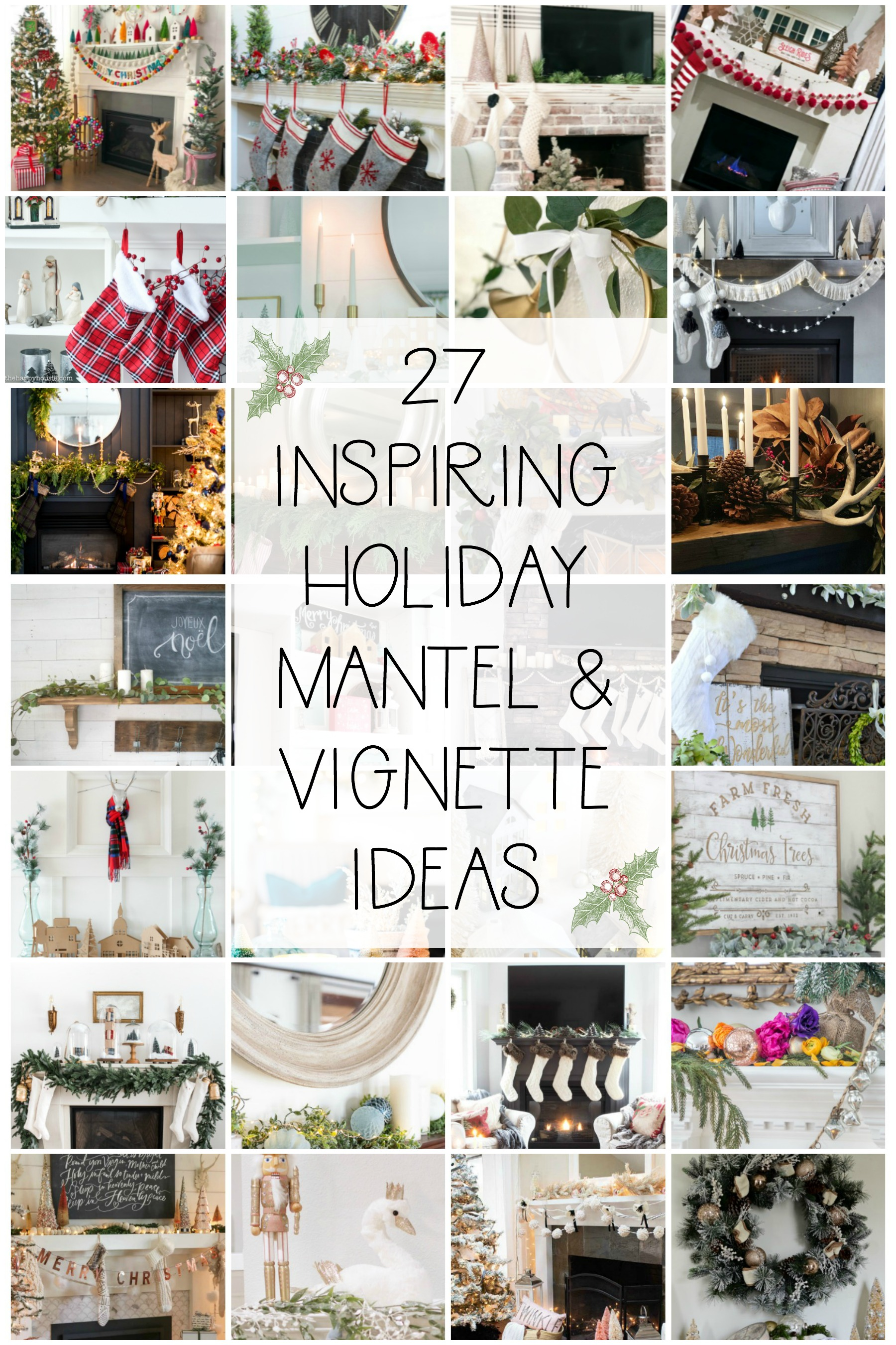 27 inspiring holiday mantel and vignette ideas seasonal simplicity christmas series