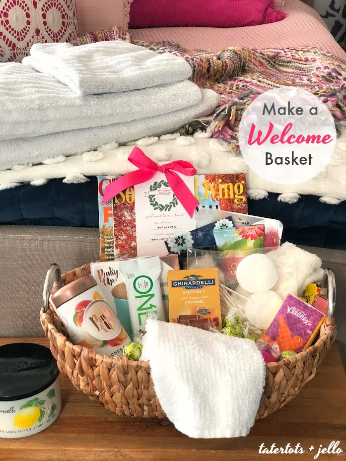 Holiday home guest basket