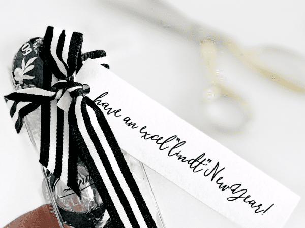 Lindt Chocolate New Year's Eve Printable Gift Tag