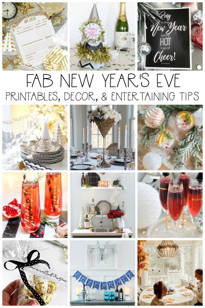 Fab new years eve printables decor and entertaining tips