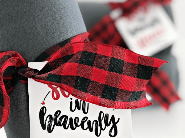 Fleece Blanket Christmas Gift Idea + Printable Gift Tag