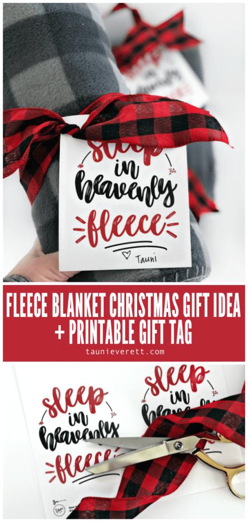 Fleece blanket christmas gift idea © tauni everett pin