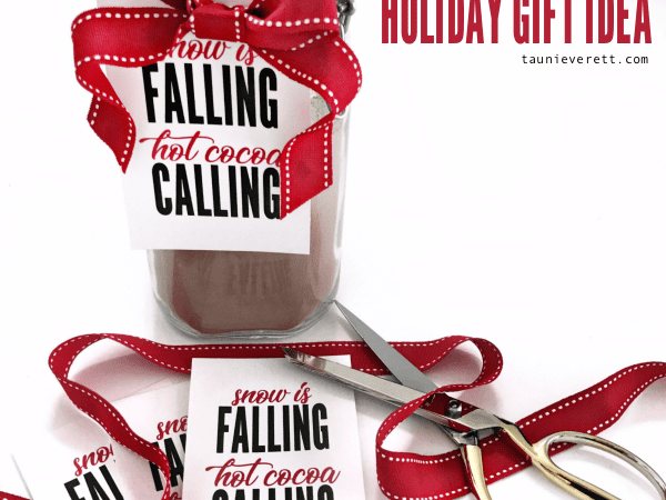 Fa La La Christmas Lava Cake Printable Gift Tag