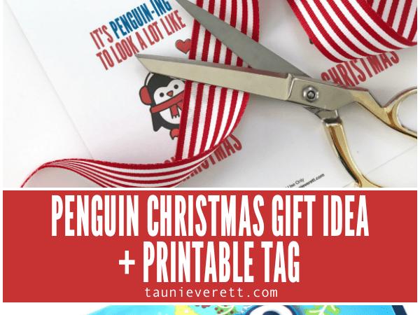 Penguin Christmas Holiday Printable Gift Tag