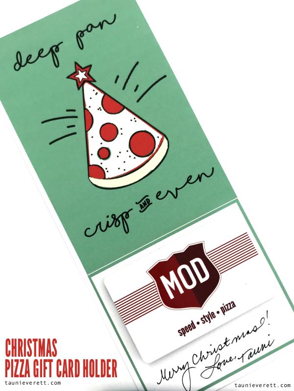 Pizza Christmas Printable Gift Idea | Tauni + Co