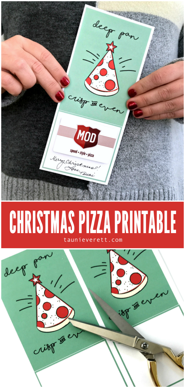 Pizza Christmas Printable Gift Idea | Tauni + Co