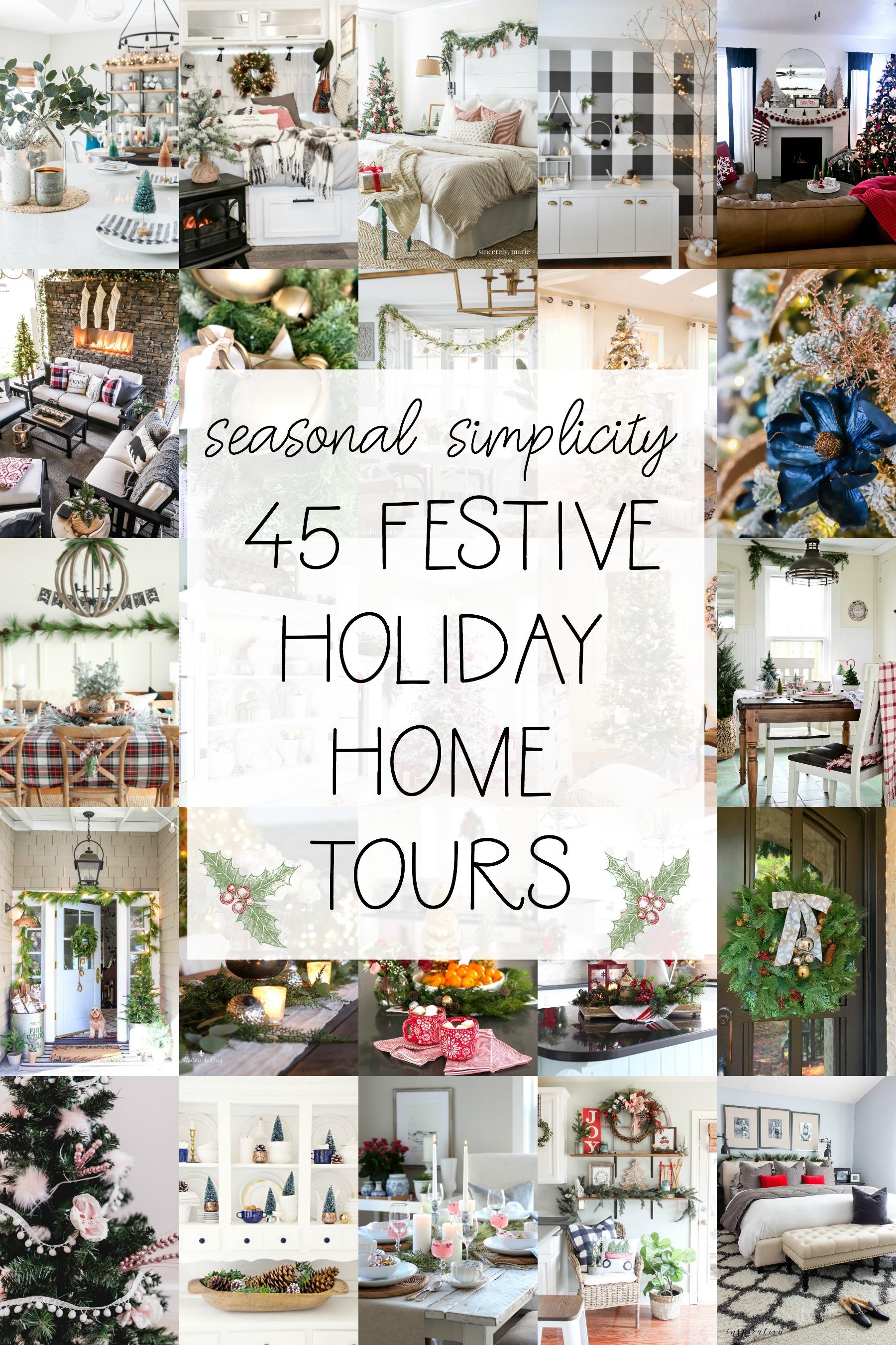 Seasonal simplicity 45 festive holiday home tours