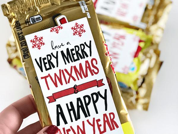 Twix Christmas Holiday Gift Idea + Printable Gift Tag