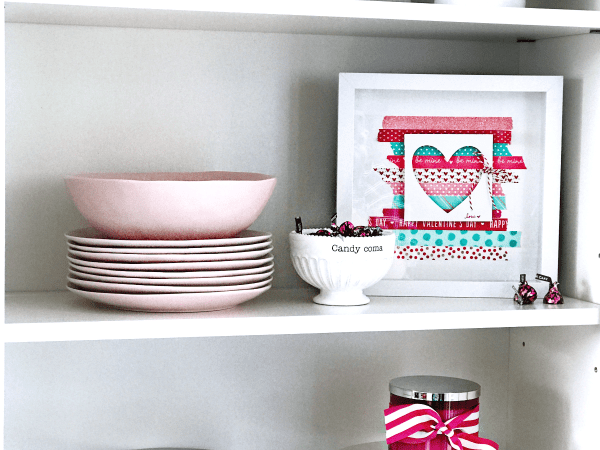 DIY Washi Tape Valentine's Day Decor