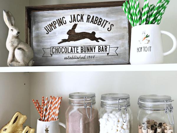 Chocolate Bunny Bar DIY Easter Sign