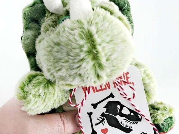 Dinosaur Valentine's Day Printable Gift Tags