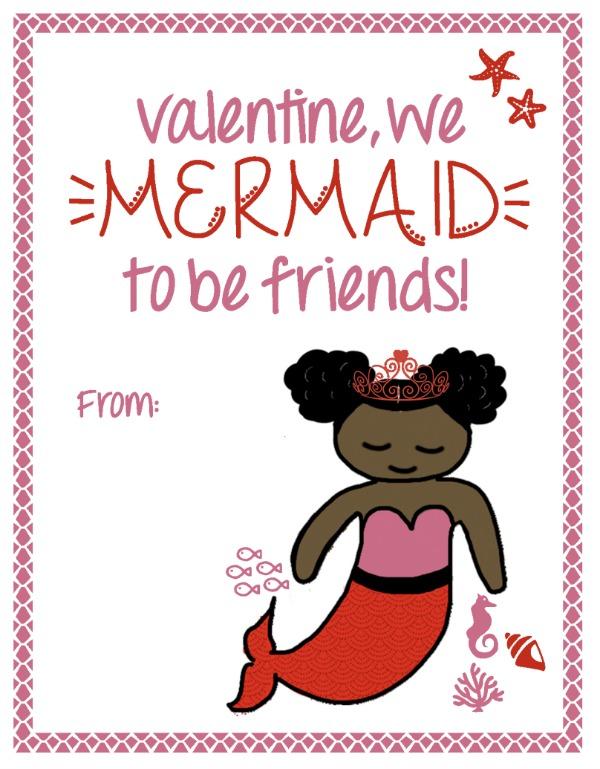Mermaid valentine african america