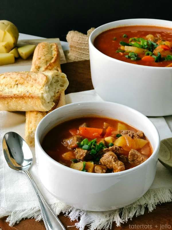 Moms famous beef stew in the instant pot large
