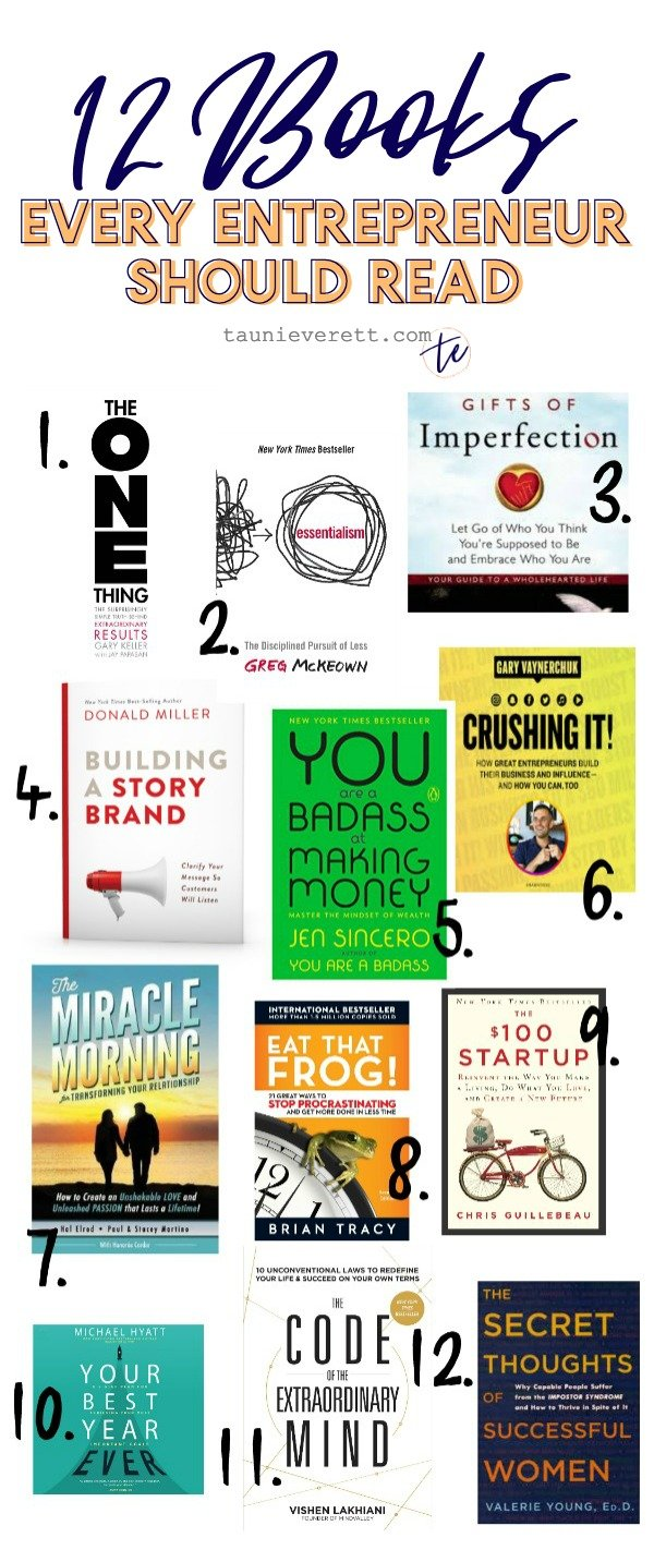 12 best books for entrepreneurs © tauni everett