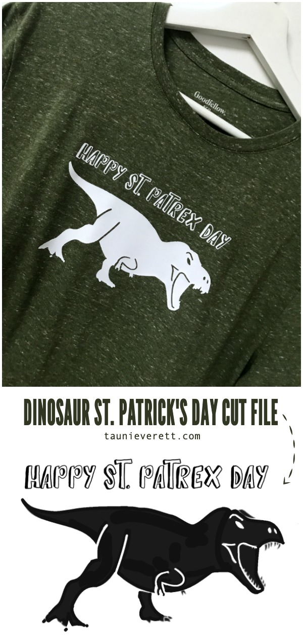 Dinosaur st patricks day cut file © tauni everett pinterest hero