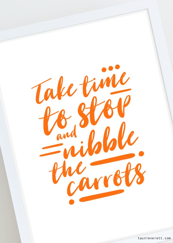 Carrot themed Easter printable art available for free download #Easter #printable #easterprintable