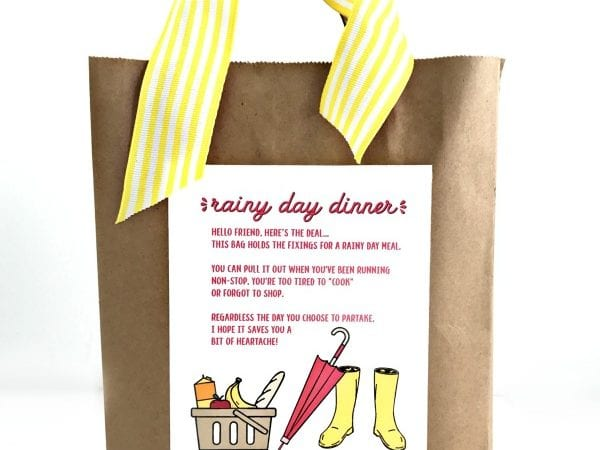 Rainy Day Meal Printable and Gift Idea