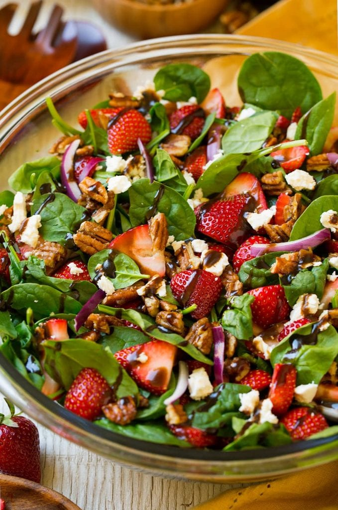 12 light and tasty spring salad recipes. These healthy recipes are great for helping you get in shape for summer! #springsalad #salads #saladrecipes #springrecipes #summerrecipes #summersalad