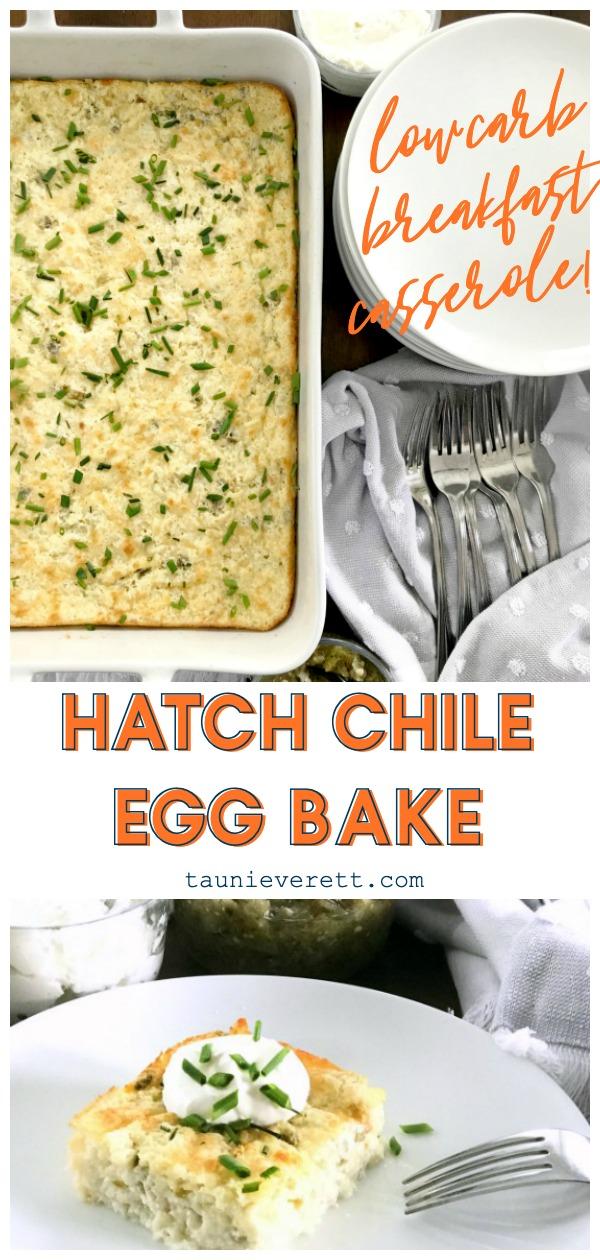 Hatch chile egg bake breakfast casserole © tauni everett hero