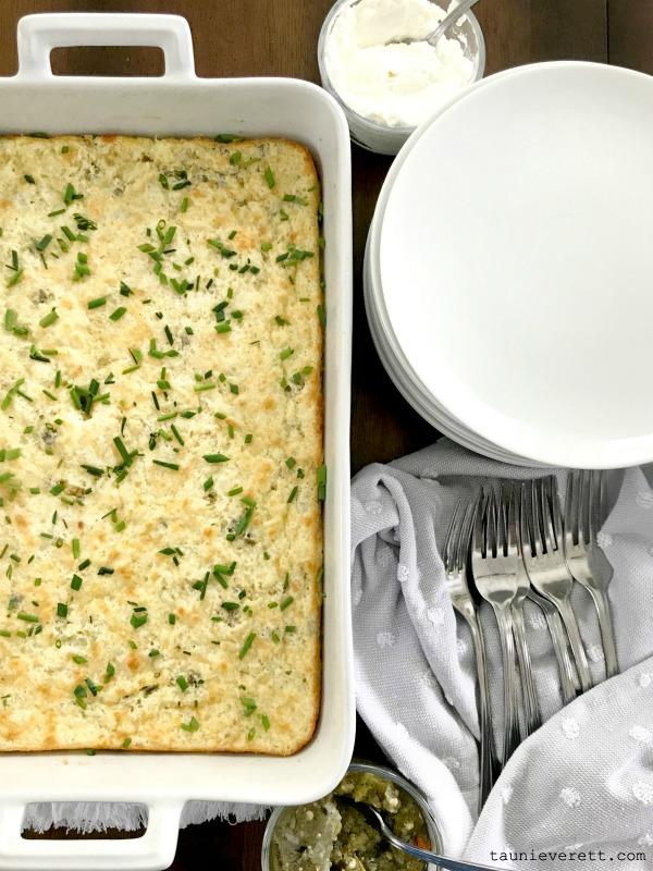 Hatch chile egg bake easy breakfast casserole 1 600