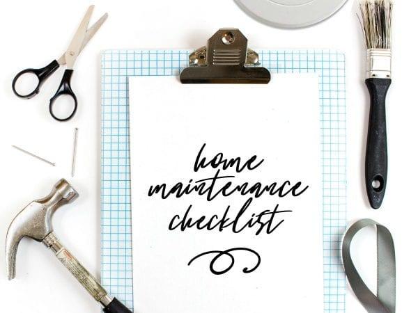 Home Maintenance Checklist with First Alert
