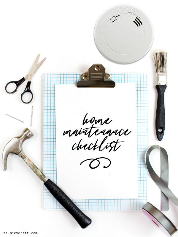 Home improvement checklist © tauni everett 12