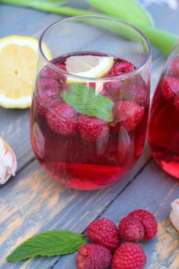 Raspberry mimosa recipe mothers day brunch hop the happy housie 1 2