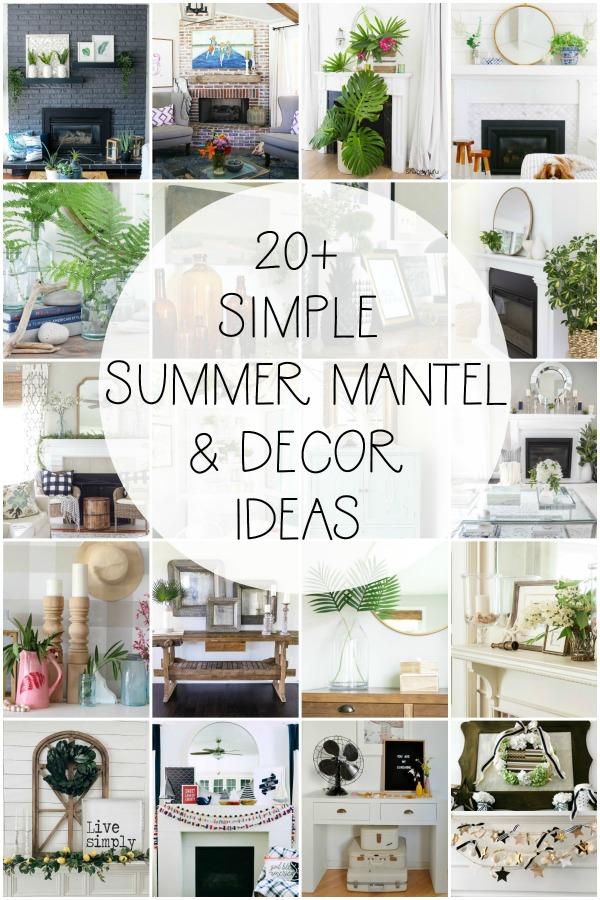 Over 20 gorgeous inspiring simple summer mantel vignette decor ideas