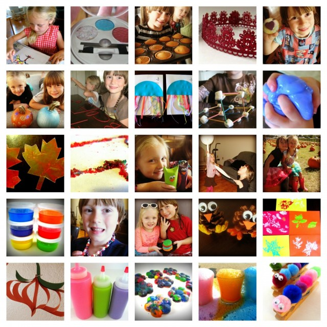 31 Kids Crafts via Somewhere in the Middle