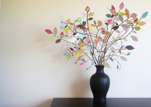 Scrap paper tree, plus more than a dozen ways to decorate with scrapbook paper